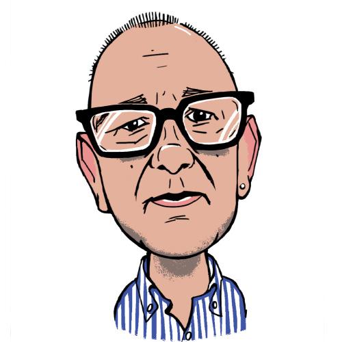 Alex Sones A.C. Wilgar service executive caricature