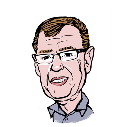 Billy Wilgar A.C. Wilgar founder and CEO caricature