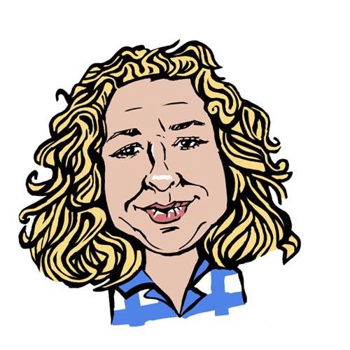 Lisa Hopper A.C. Wilgar office manager caricature