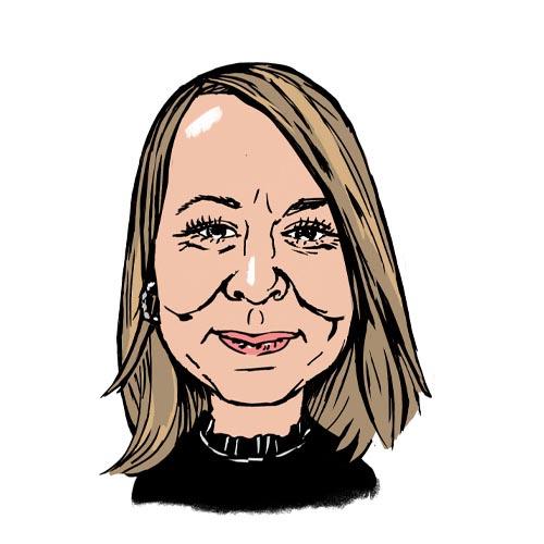 Sarah Skinner A.C. Wilgar accounts assistant caricature