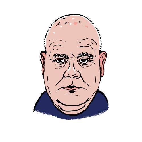 Paul Conneely A.C. Wilgar heating supervisor caricature