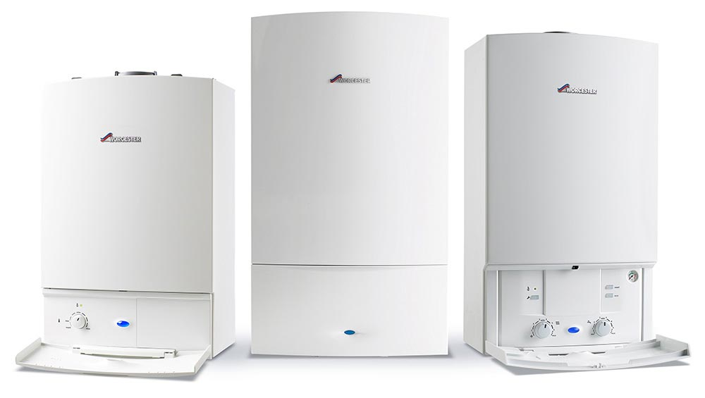 Three Worcester Bosch boilers