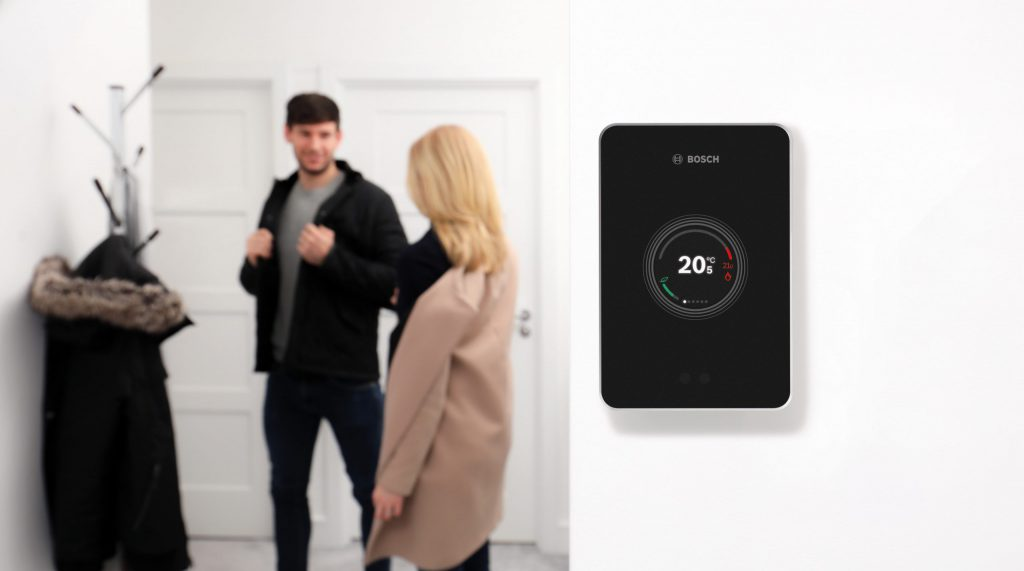 Worcester Bosch intelligent easy smart control on wall