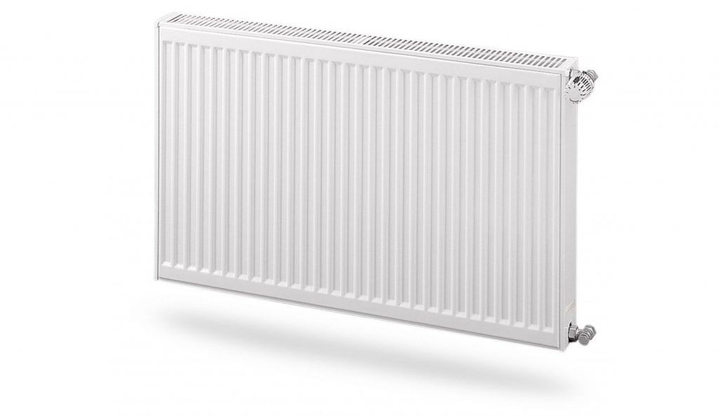 Compact double panel convector radiator