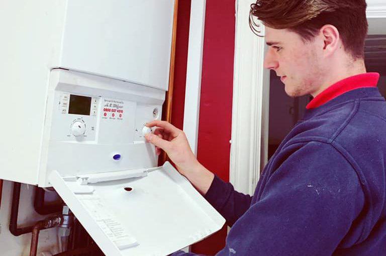 A.C. Wilgar plumber repairing boiler