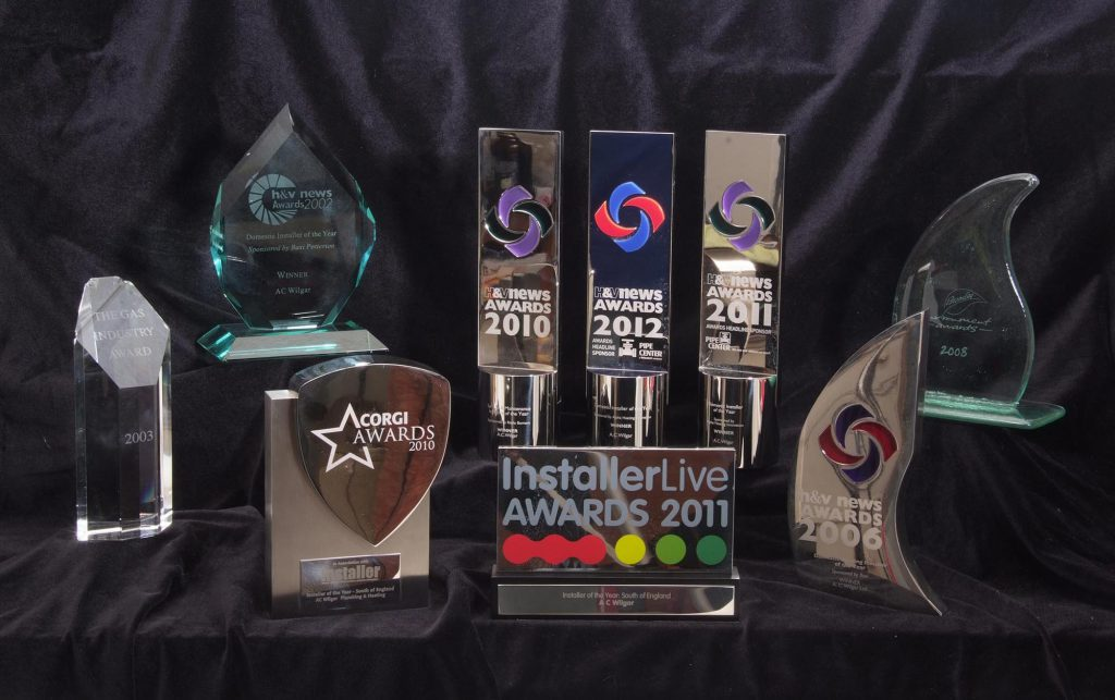 Selection of awards won by A.C. Wilgar Plumbing and Heating
