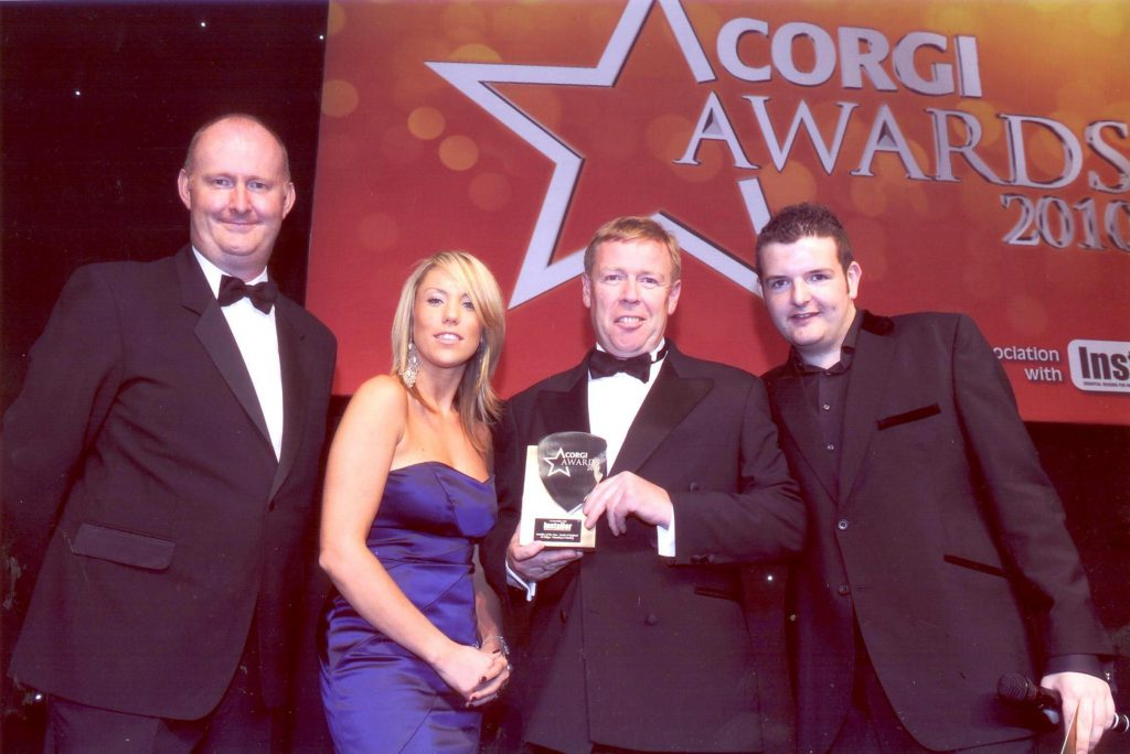 A.C. Wilgar wins Corgi Installer of The Year 2010 with Billy Wilgar and Kevin Bridges