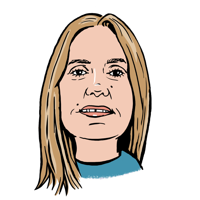 Frances Duckering A.C. Wilgar Accounts Assistant caricature