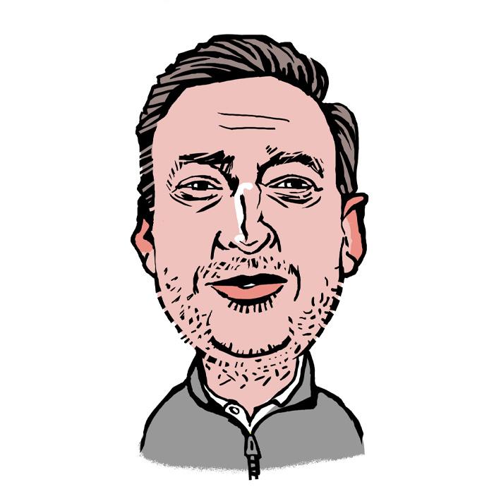 Glenn Brewer A.C. Wilgar Operations Director caricature
