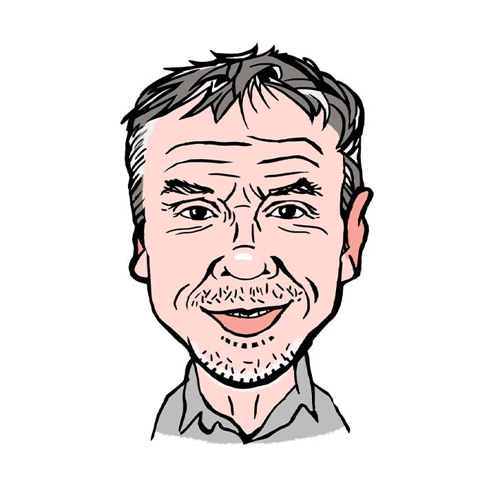 Richard Bracey A.C. Wilgar Service Administrator caricature